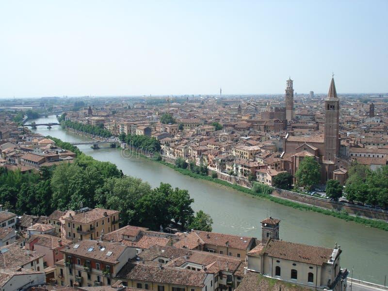 Panoramische Antenne in Verona, Italien stockfoto