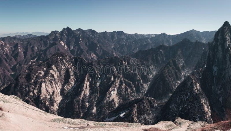 Panoramische berg stock fotografie