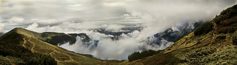 Panoramische bergmening royalty-vrije stock afbeelding