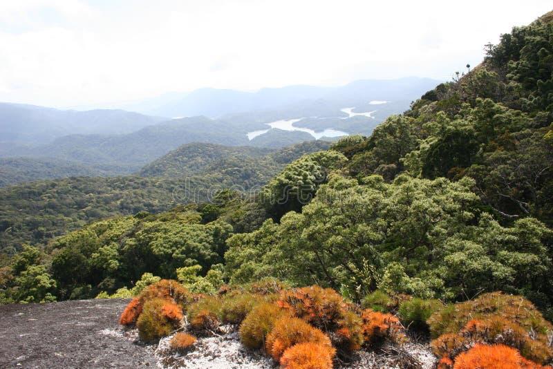 Panoramische bergmening royalty-vrije stock foto's