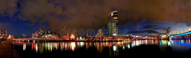 Panoramische cityscape stock fotografie