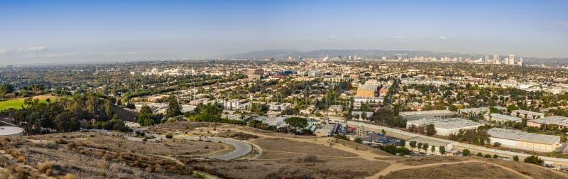 Panoramische cityscape stock afbeelding