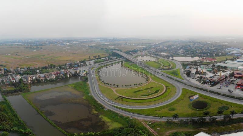 Panoramische Com-weg in de stad royalty-vrije stock fotografie