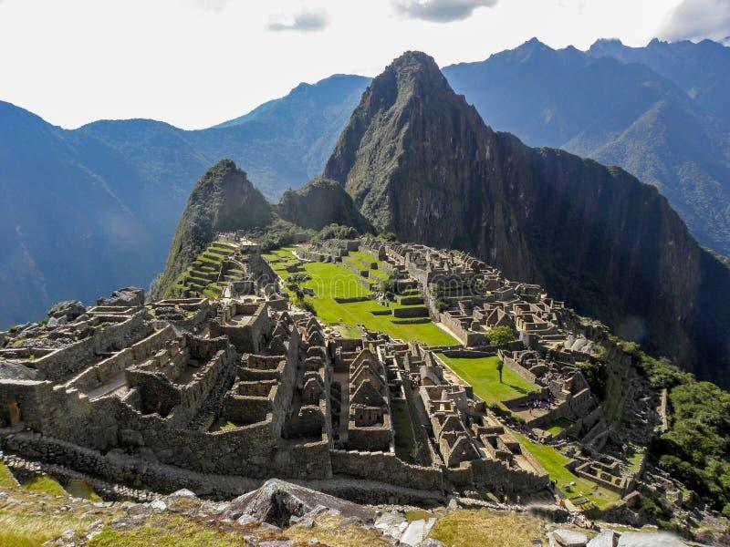 Panoramische dag in Machu Picchu royalty-vrije stock afbeelding