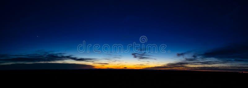 Panoramische Dawn in Gr Sombrerito, Rawson, Chubut, Patagonië Argentinië stock fotografie