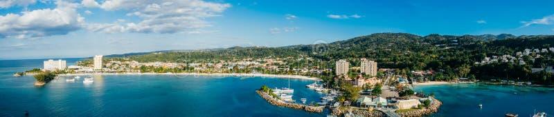 Panoramische de Baai van Ochrios Jamaïca royalty-vrije stock fotografie
