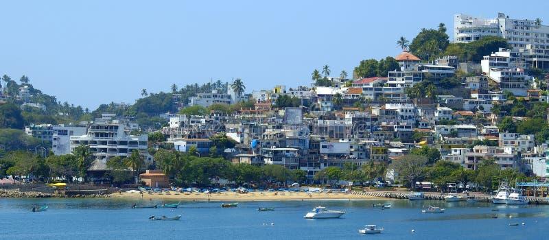 Panoramische de Kust van Acapulco royalty-vrije stock afbeeldingen