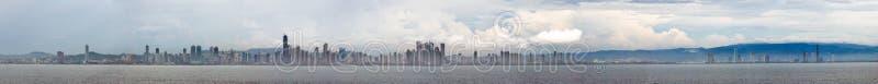 Panoramische de stad van Panama stock foto