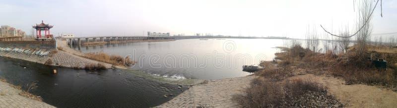 Panoramische foto van de geboortestad van Dawen-Rivier royalty-vrije stock foto