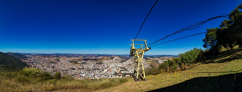 Panoramische foto van de stad van Poços DE Caldas, Minas Gerais - Brazilië stock fotografie