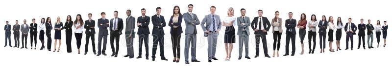 Panoramische foto van een groep zekere bedrijfsmensen stock afbeelding