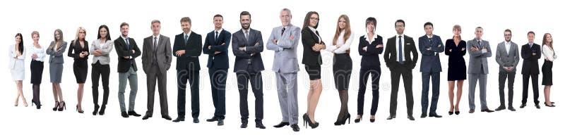 Panoramische foto van een professioneel talrijk commercieel team royalty-vrije stock foto