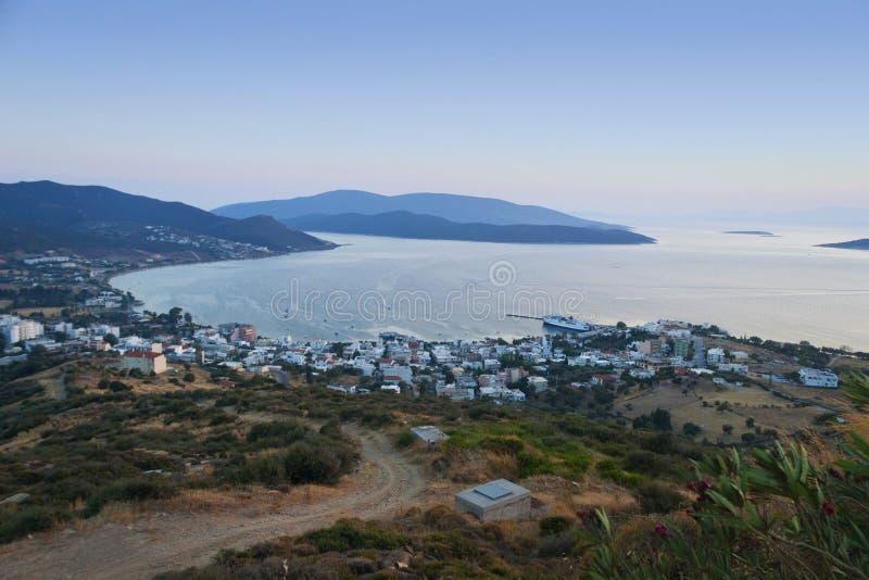 Panoramische foto van Marmari royalty-vrije stock foto's