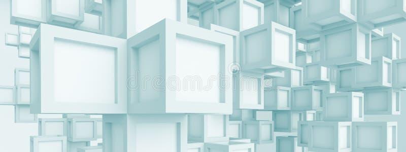 Panoramische Futuristische Achtergrond royalty-vrije illustratie