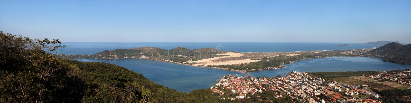 Panoramische Lagune royalty-vrije stock foto's