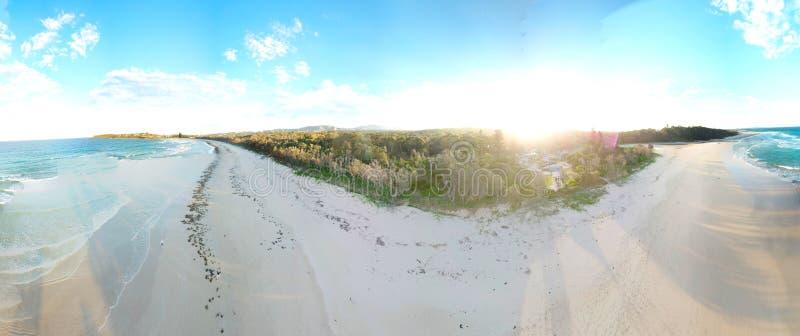 Panoramische Landschaft von Woolgoolga lizenzfreie stockfotografie