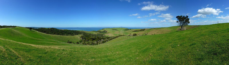 Panoramische landschapsmening stock foto's