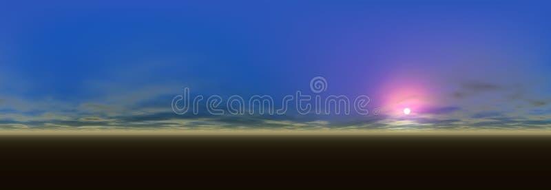 Panoramische landschapsmening royalty-vrije illustratie