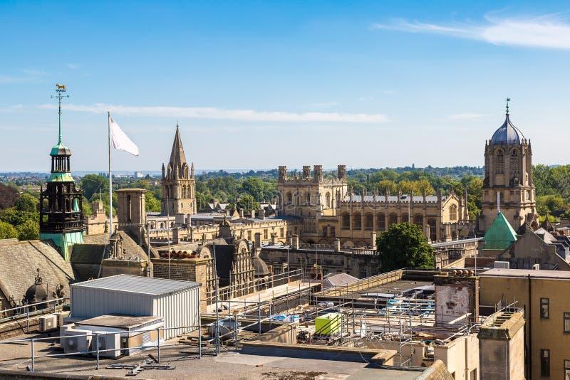 Panoramische luchtmening van Oxford stock foto's