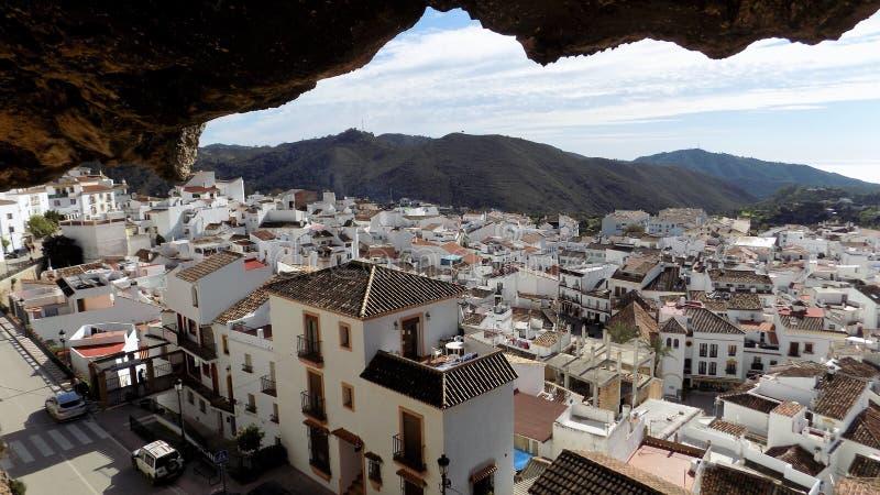 Panoramische mening-OJEN-MÃ ¡ laga-Andalusia-Spanje-Europa stock foto