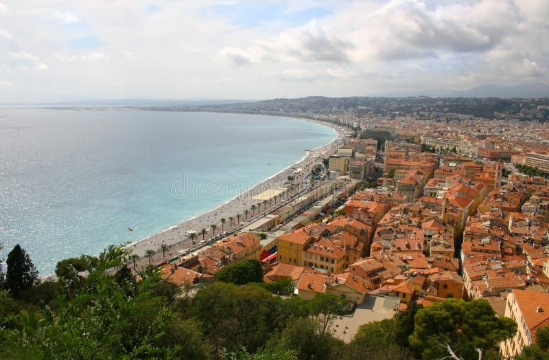 Panoramische Nizza Ansicht - - Frankreich lizenzfreie stockfotografie