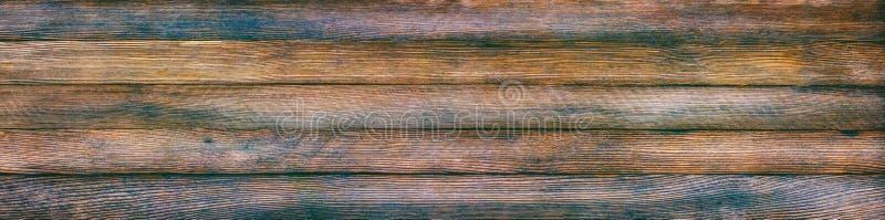 Panoramische retro grungeachtergrond van houten planken royalty-vrije stock afbeeldingen