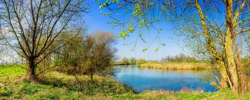 Panoramische rivier EMS stock afbeeldingen