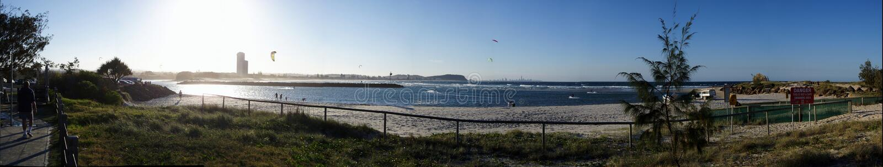 Panoramische Serie - Parasurfing lizenzfreie stockbilder