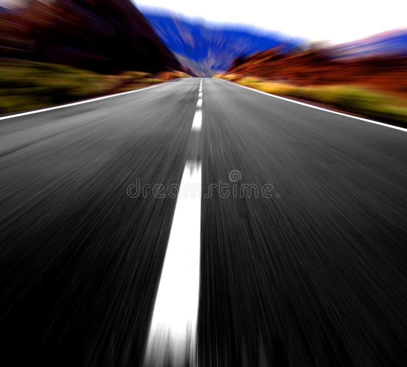 Panoramische Straßenansicht stockfoto