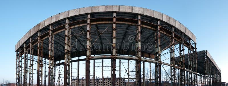 Panoramische verlaten bouw royalty-vrije stock foto