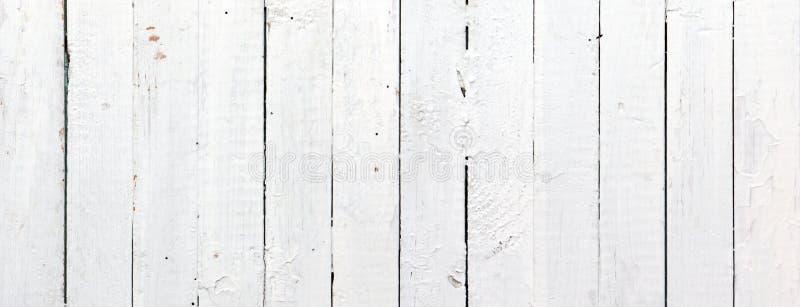 Panoramische weiße hölzerne Planke lizenzfreie stockfotos