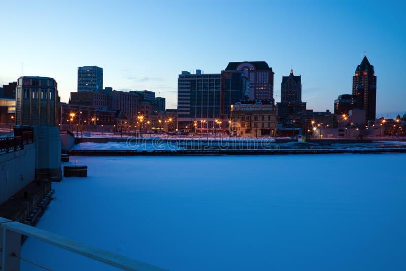 Panoramischer Milwaukee lizenzfreie stockfotografie