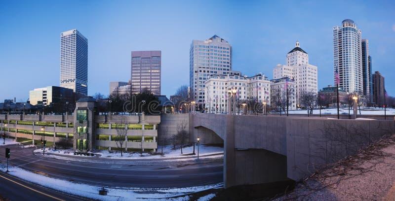 Panoramischer Milwaukee stockbild