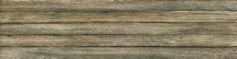 Panoramischer Retro- Schmutzhintergrund von hölzernen Planken lizenzfreies stockfoto