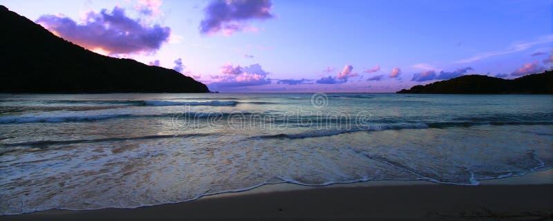 Panoramischer Sonnenuntergang Tortola stockfotografie