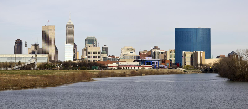 Panoramisches Indianapolis stockbild