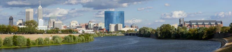 Panoramisches Indianapolis Indiana stockbild