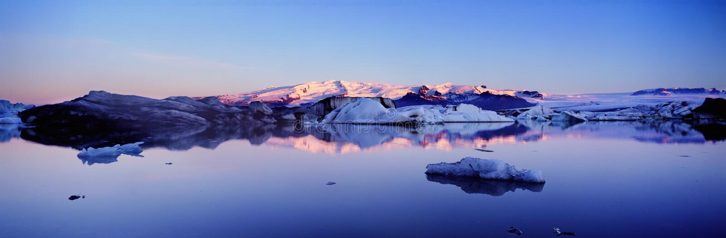 Panoramisches Island stockfotos