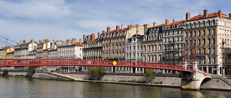Panoramisches Lyon lizenzfreie stockfotografie