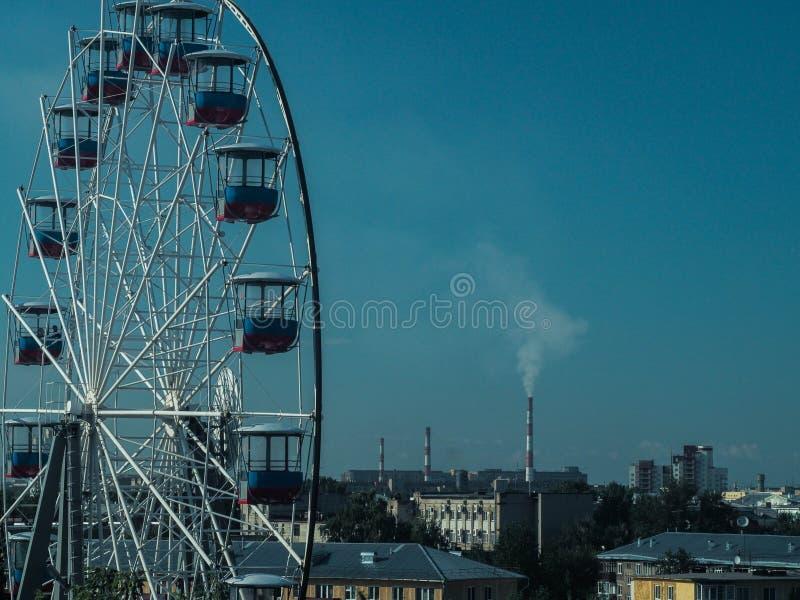 Panoramisches Rad lizenzfreie stockfotografie