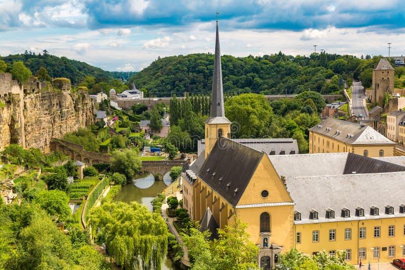 Panoramisches Stadtbild von Luxemburg stockfoto