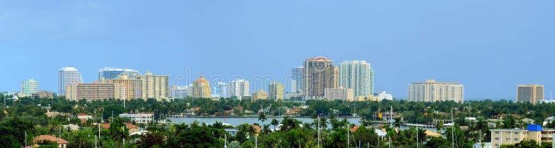 Panorammafort lauderdale, Florida stock foto's