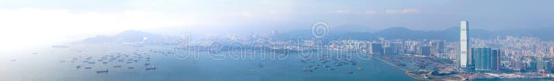 Panoramor av Hong Kong West royaltyfri fotografi