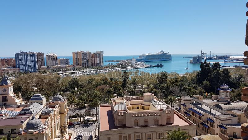 Malaga cityscape stock photography