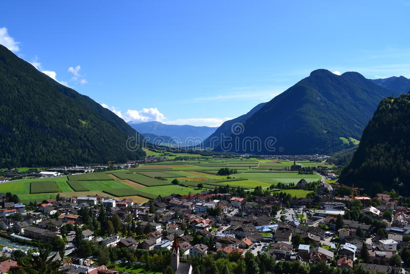 Panoramy alpino obrazy stock