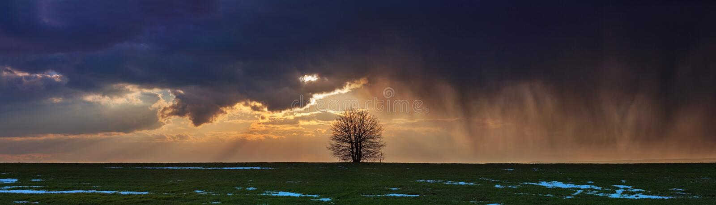 Panoramy burza fotografia royalty free