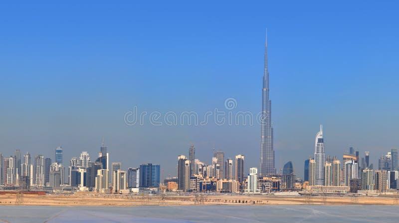 Panoramy Dubaj miasto. Centrum miasta, drapacz chmur obrazy stock