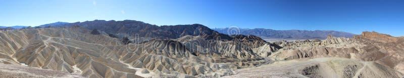 Panoramy fotografia wielki krajobraz Śmiertelna dolina z dramatycznym chmurnym niebem pustynia USA, Kalifornia obraz stock