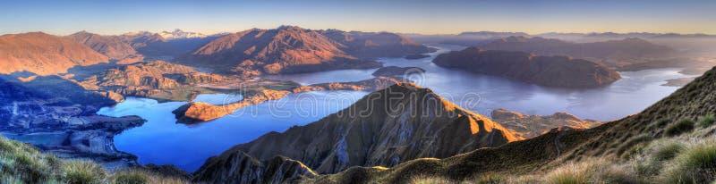panoramy jeziorny nowy wanaka Zealand obraz stock