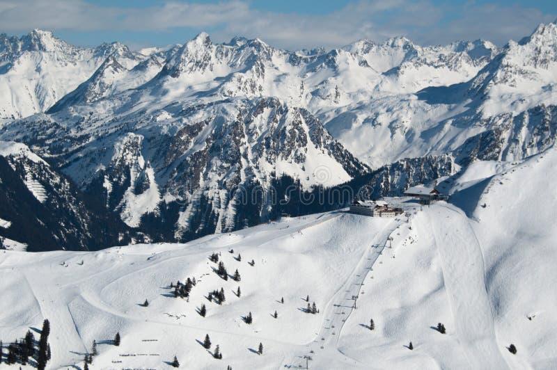 panoramy piękna halna zima obraz stock